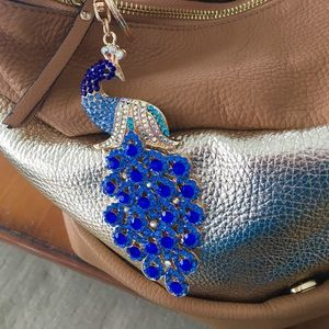 Crystal Handbag Charm Blue